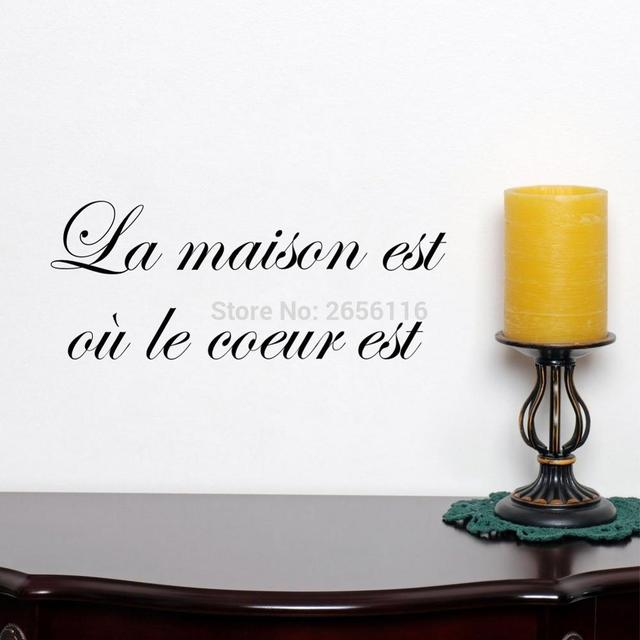 Buy french house quotes wall stickers la - La maison du stickers ...