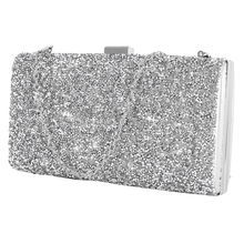 Women Evening Clutch bag Women Diamond Rhinestone Clutch Crystal Day Clutch Wallet Wedding Purse Party Banquet Black/Gold/Silver women elegant fashion splice rhinestone wedding party clutch silver black gold evening bag ladies shoulder bag flap purse