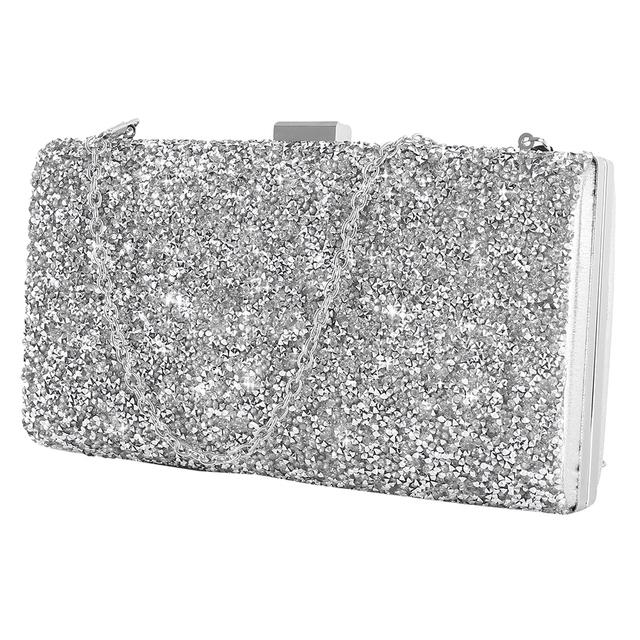 Women Evening Clutch bag Women Diamond Rhinestone Clutch Crystal Day Clutch Wallet Wedding Purse Party Banquet Black/Gold/Silver
