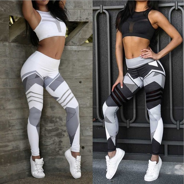 dc5442ffc60 Print Sporting Leggings For Women Fitness Clothing High Waist Workout Pants  Jeggings Quick Dry Activewear Female