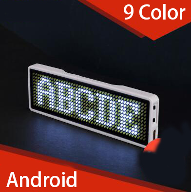 6mm Bluetooth LED Screen Neon Sign Micro USB LED Display For Badge Business Card Worker Plate Scroll Font 11*44 Smart Phone