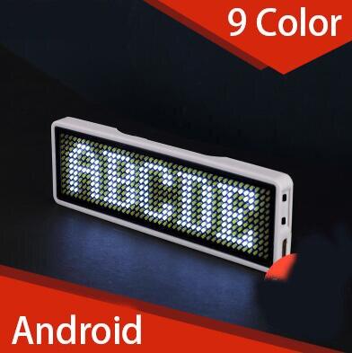 6mm Bluetooth Cran LED Micro USB Displayfor Badge Carte De Visite Travailleur Plaque Dfilement Police 1144
