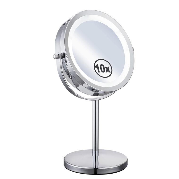 7 Inch 10X or 5X Magnifying LED Mirror 360 degree Rotation Makeup Mirror Dual 2 Sided Cosmetic Brightness Mirror