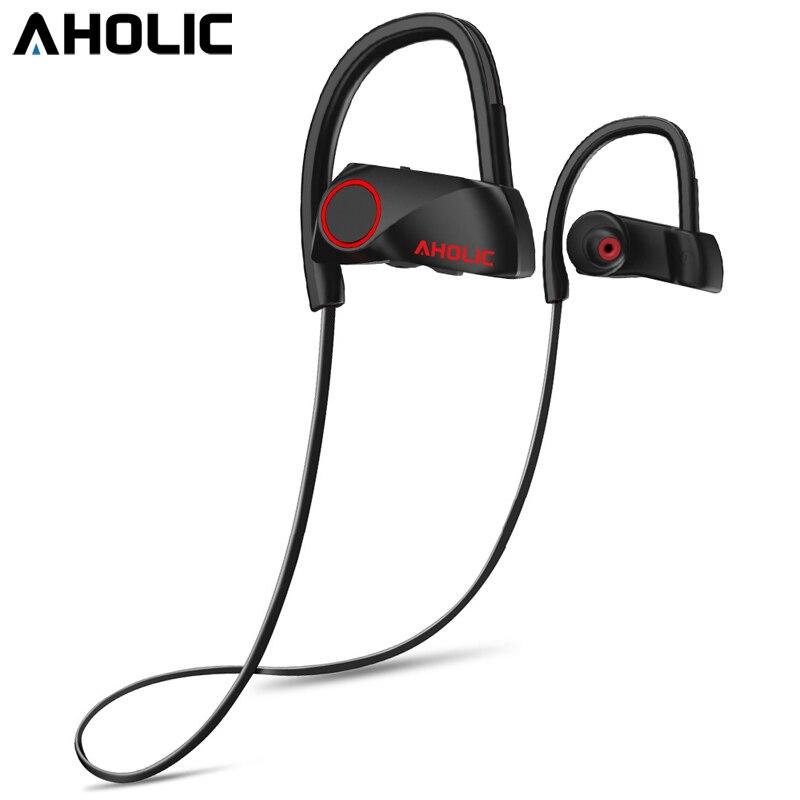 AHOLIC D200 Bluetooth Sport Écouteurs Casque IPX7 Étanche Sans Fil Casque Mic Neckband Écouteurs Stéréo Antibruit