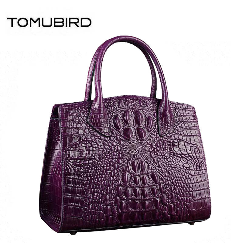 TOMUBIRD 2018 new superior cowhide leather Crocodile pattern famous brand women bag fashion women genuine leather handbags tomubird new superior cowhide leather classic designer embossed crocodile leather tote top handle handbags genuine leather bag