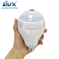 ZILNK 2MP 1080 Full HD Fisheye 360 Degree Panoramic Lamp Bulb Light IP Camera Two Way