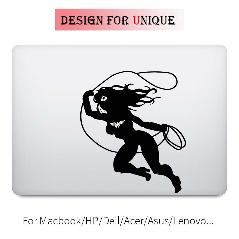 Wonder Woman <font><b>Laptop</b></font> Decal for Apple Macbook Sticker Pro Air Retina 11 12 13 15 <font><b>inch</b></font> Vinyl Mac HP Dell Mi Surface Book Cover Skin image