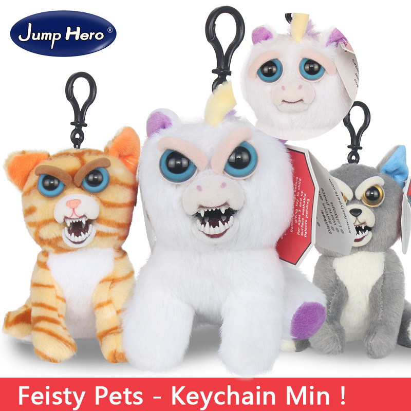 11-12cm mini feisty pets change face toy geek novelty toys key chain funny antistress toy prank toy tricks gags toys joke squeez