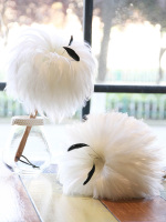Feather Dusters with Wood Handle Dusting Household Cleaning Tool for Desktop/Bookshelf Fluffy Dust Scorpion White Color