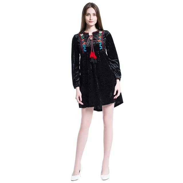 2018 New Autumn Female Velvet Dress Women Little Black Semi Formal Cute  Sweater-dresses Party for Girls Evening Gowns Clothing 31f8cd649