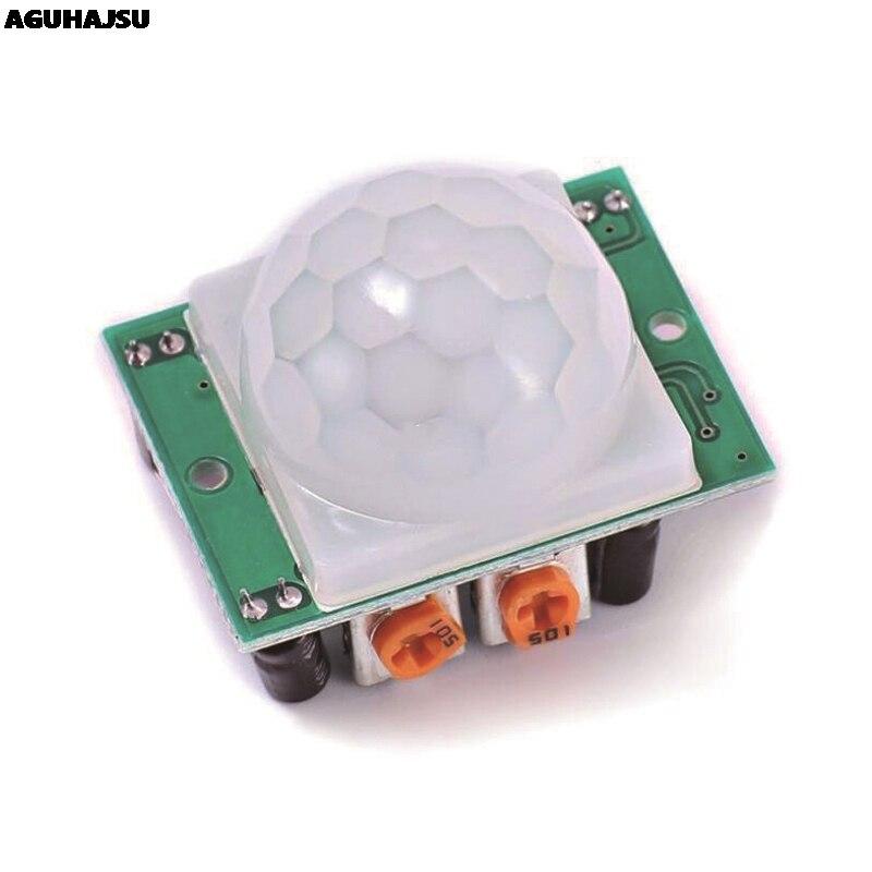 1 teile/los HC SR501 Einstellen IR Pyroelektrische Infrarot PIR Motion Sensor Detektor Modul für arduino für raspberry pi kits|Sensoren|   -