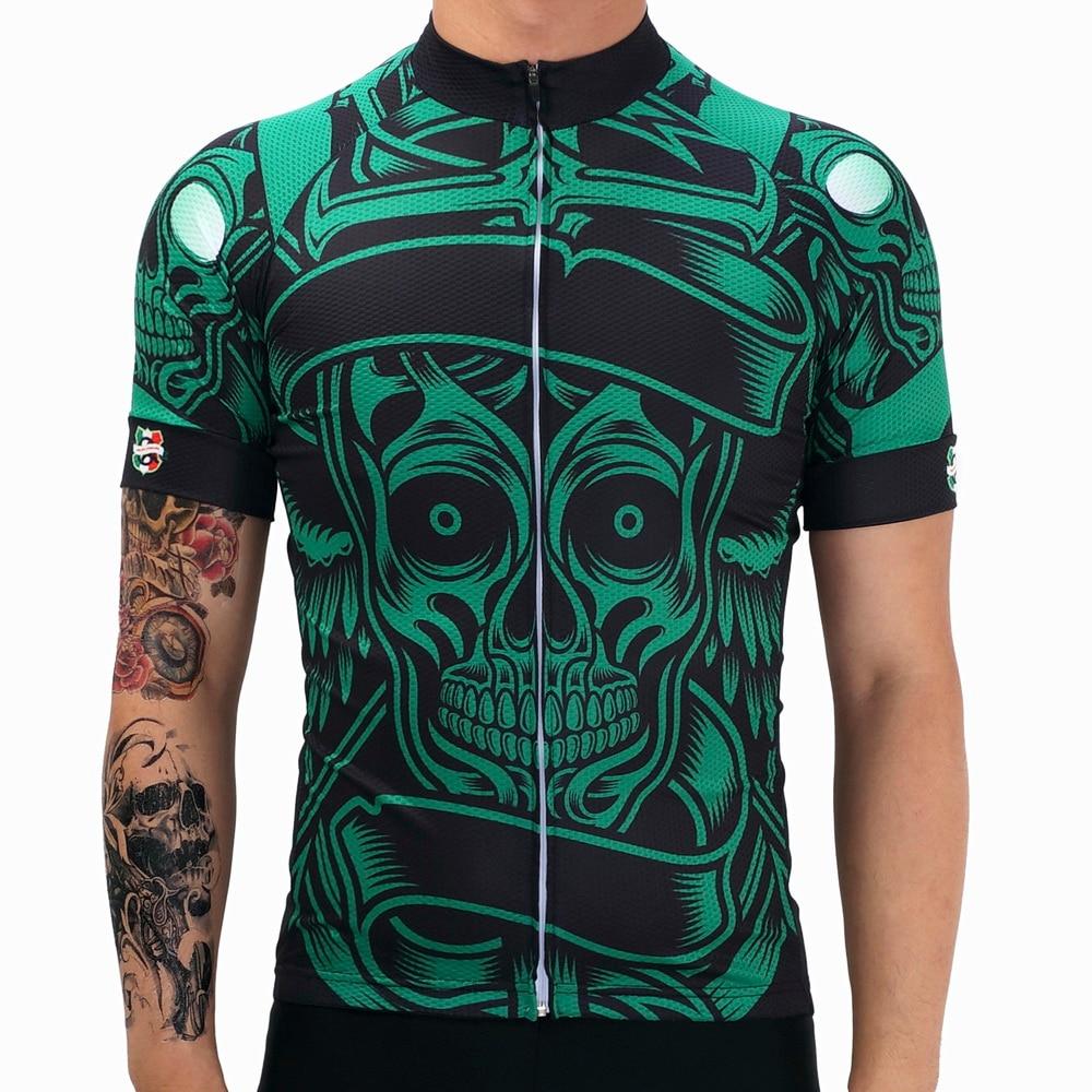 브랜드 녹색 인간의 골격 레이싱 자전거 프로 팀 자전거 의류 로파 Ciclismo 수분 위킹 MTB 자전거 자전거 유니폼