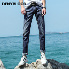 Denyblood Jeans 2017 Spring Summer Mens 100% Cotton Denim Slim Straight Jeans Tie Dye Vintage Wash Casual Pants Trousers 738724