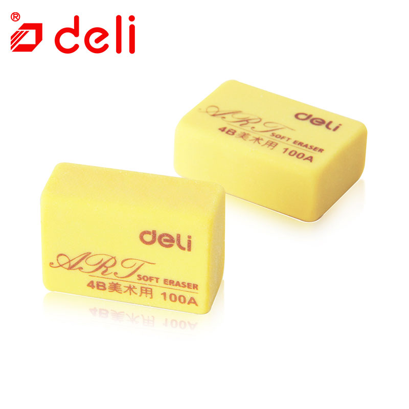 Deli 2pc/lot Pure Color Pencil Erasers Art Sketch Painting Writing Erasers 4B Student Correction Tools School & Office Supplies