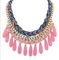 Moda Maxi Bohemio Collar para Las Mujeres Granos de la Resina de Gota de Las Borlas del Oro de Múltiples Capas Colorido Collar Gargantilla Necklace