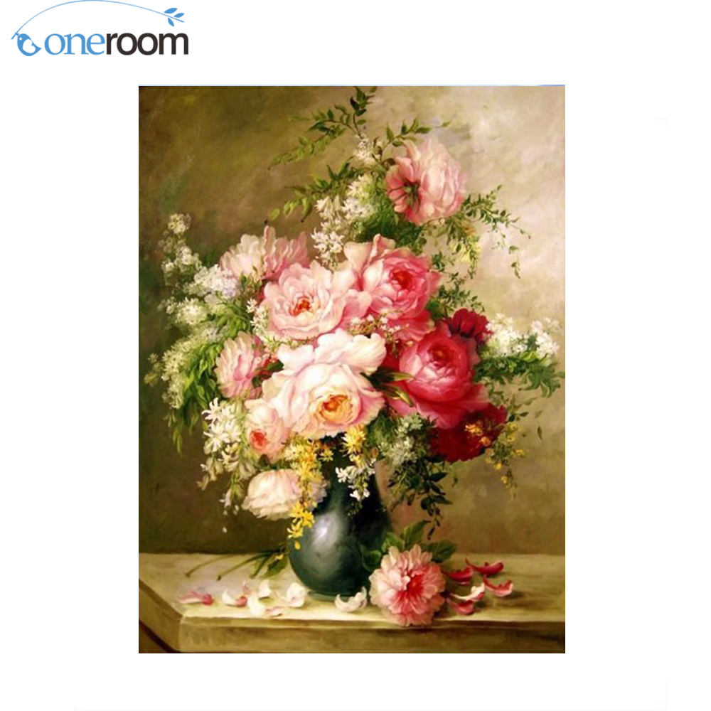 44*59-Needlework Crafts Full Embroidery DIY Higher Quality Counted Cross Stitch Kit 14 ct Oil painting Roses Bouquet