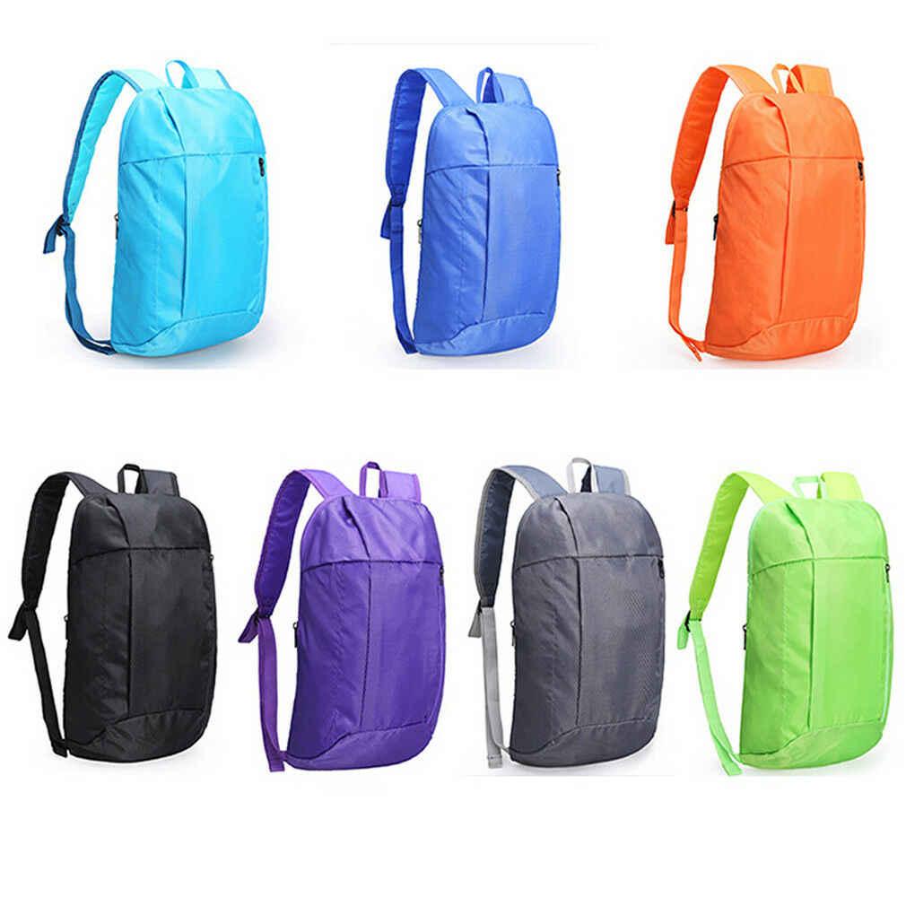 Nueva mochila para hombre y mujer, pequeña mochila para deportes al aire libre, mochila de hombro, mochila de nailon Oxford, impermeable, ligera y plegable