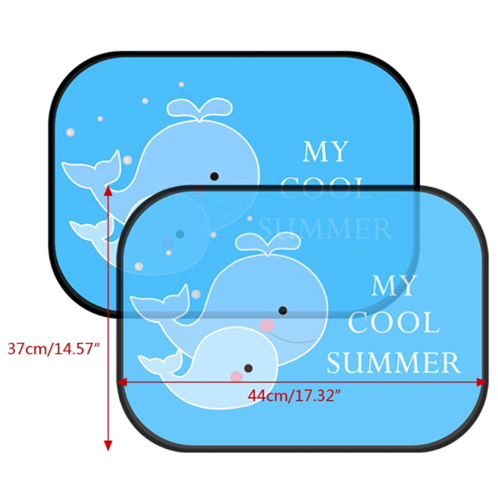 New Arrival 1 Pair 44x37cm Car Sunshade Kids Baby Cute Cartoon Car Side Window Sunshade Sun Visor Universal in Side Window Sunshades from Automobiles Motorcycles