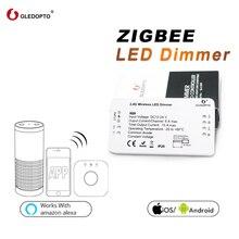 GLEDOPTO controlador de tira de controlador regulador Led ZIGBEE samrt, DC12/24V, zll, estándar, aplicación led, control por voz, funciona con echo plus