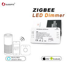 Gledopto zigbee samrt led controlador dimmer tira controlador dc12/24 v zll padrão led app controle de voz trabalho com eco mais