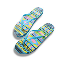 New Summer Women Flip Flops Color Printing Design Flat With Sandals Home Slippers Fashion Playa Surfing Casual Beach shoes