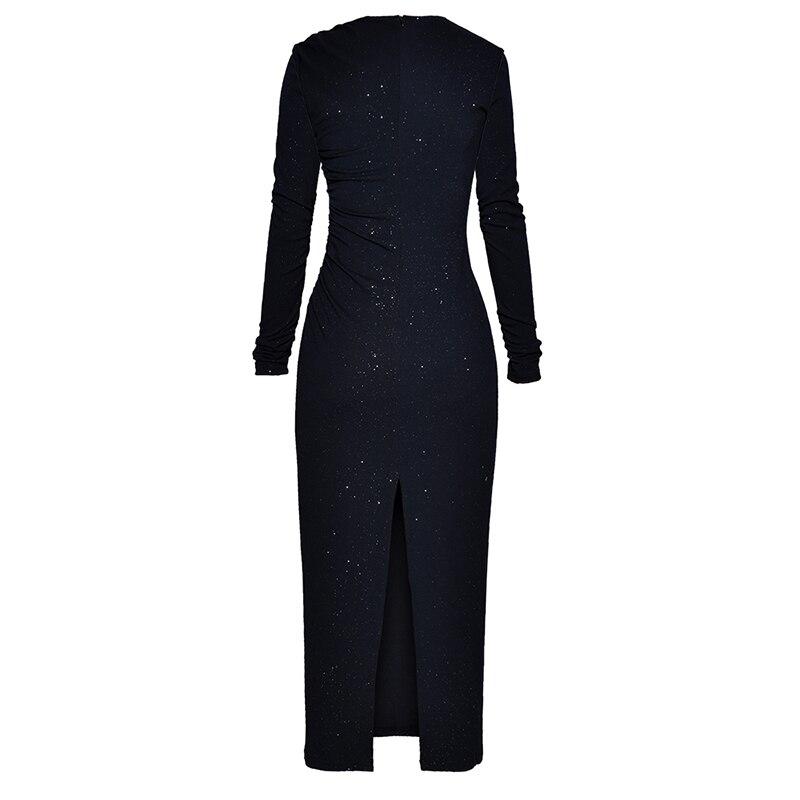 Dentelle Qualité 2018 Élégant Designer Patchwork Piste Boutons Robe Col Cranté De Haute Nouvelle Mode Asymétrique Femmes tqwdqf7