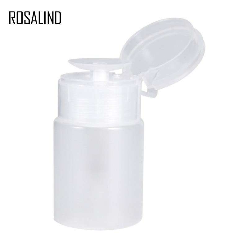 ROSALING Plastic Empty Pump Remover Dispenser Bottle 1PCS Nail Gel Polish Remove Nail Art Manicure Alcohol Clear Bottle