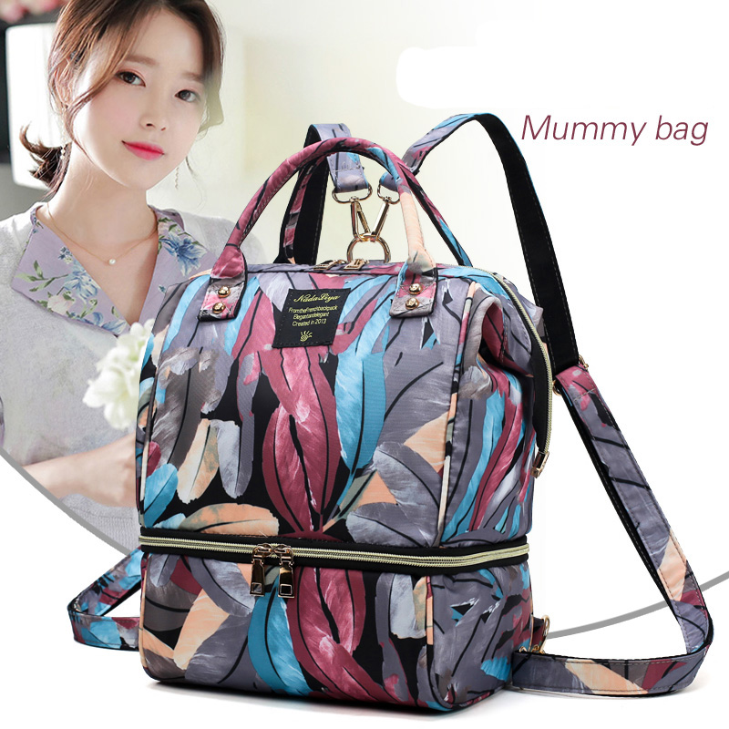 New Fashion Small Multi-function Oxford Baby Diaper Bag With Thermo Storage Warmer Pocket Maternity Backpack Mochila Maternidade