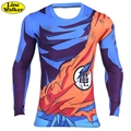 \ Line walker \ t-shirt men casual anime dragon ball z super saiyan freezer camiseta harajuku tee camisas de compresión camisa crossfit