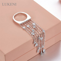 Free Shipping Hot Sale AAA Zircon 925 Sterling Silver Microscope Single Ring Tassel Rings For Women
