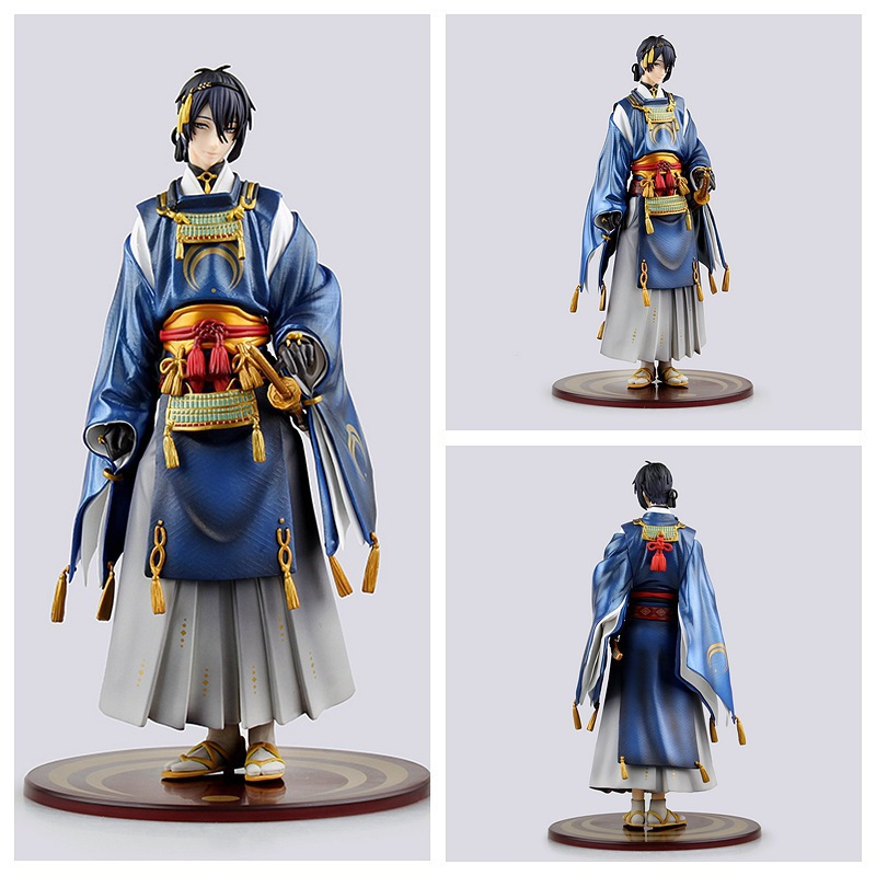 23cm Mikazuki Munechika Touken Ranbu Online Action Figure Model Toy collection Anime Cartoon dolls xmas gift new hot 20cm touken ranbu online hotarumaru action figure toys collection christmas toy doll