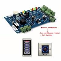 TIVDIO Porta Kit Controle de Acesso de Rede TCP Entrada Único Painel Controlador de Placa de Controle de Acesso com Leitor de Cartão + Botão Exit