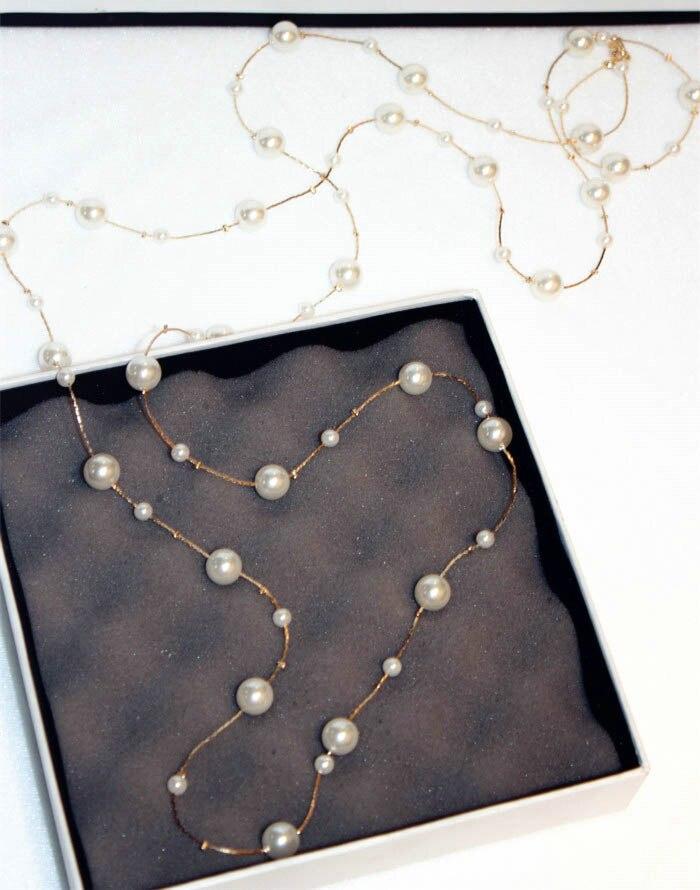 Λευκό προσομοιωμένο μαργαριτάρι - Κοσμήματα μόδας - Φωτογραφία 2