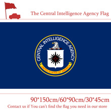 Free shipping 1PC The Central Intelligence Agency Flag 90*150cm 60*90cm 30*45cm Car 3x5ft U.S.A Banner with Metal Grommets