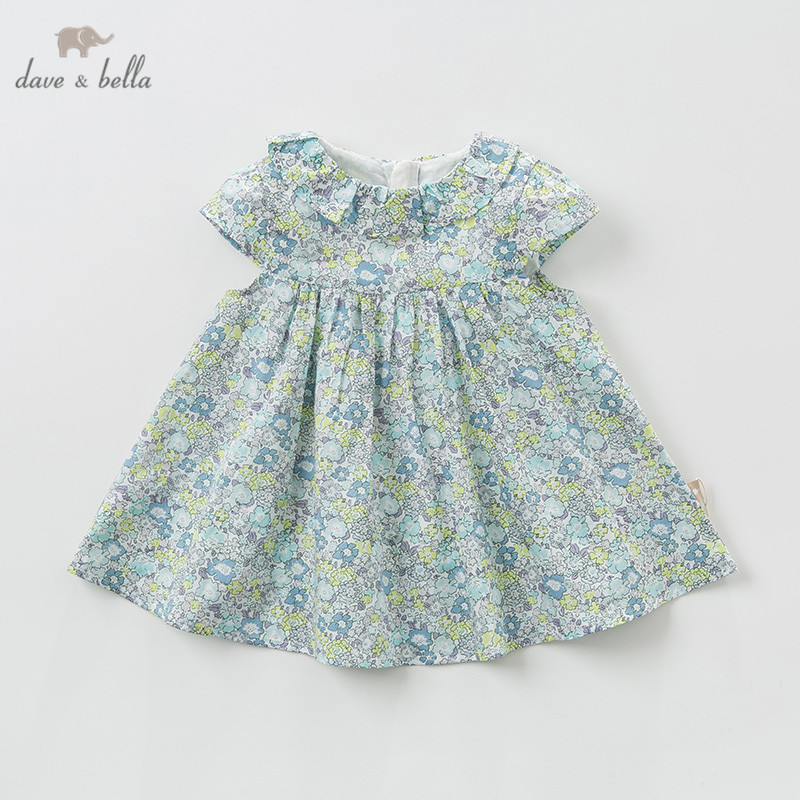 DBA9397 Dave Bella Summer Baby Girl's Princess Cute Dress Floral Children Party Dress Kids Infant Lolita Flowers Girl Clothes