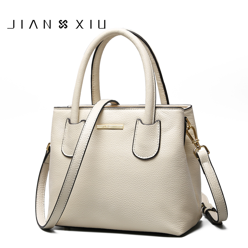 JIANXIU Brand Women Genuine Leather Handbags Famous Brands Handbag Messenger Small Bags Shoulder Bag Ladies Tote 2018 New Borse 4sets herringbone women leather messenger composite bags ladies designer handbag famous brands fashion bag for women bolsos cp03