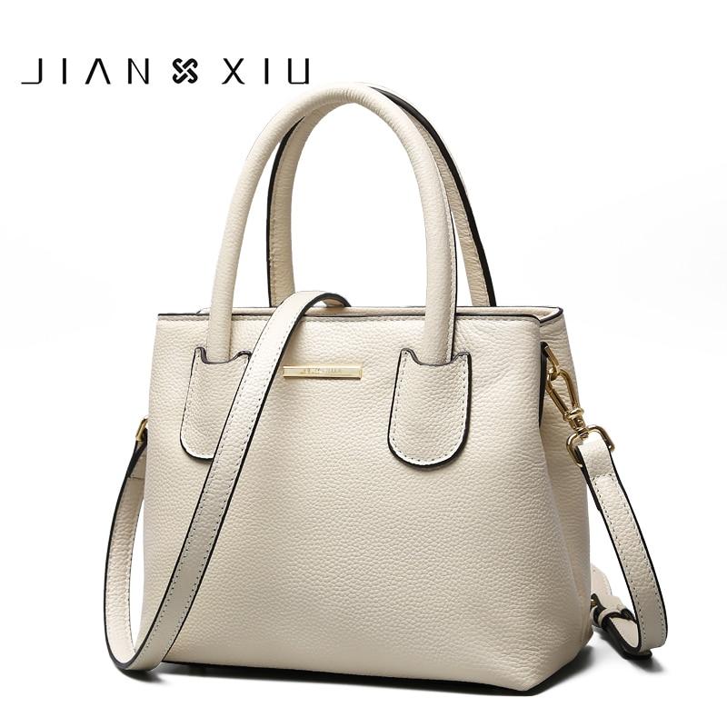 JIANXIU Brand Women Genuine Leather Handbags Famous Brands Handbag Messenger Small Bags Shoulder Bag Ladies Tote 2018 New Borse