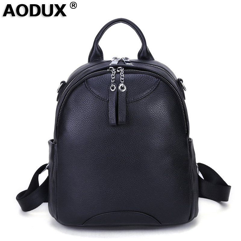 c5f3b37a03 Detail Feedback Questions about NEW Excellent 100% Genuine Leather Women s  Backpack First Layer Cow Leather Ladies  Backpacks Travel ipad Cowhide  Female ...