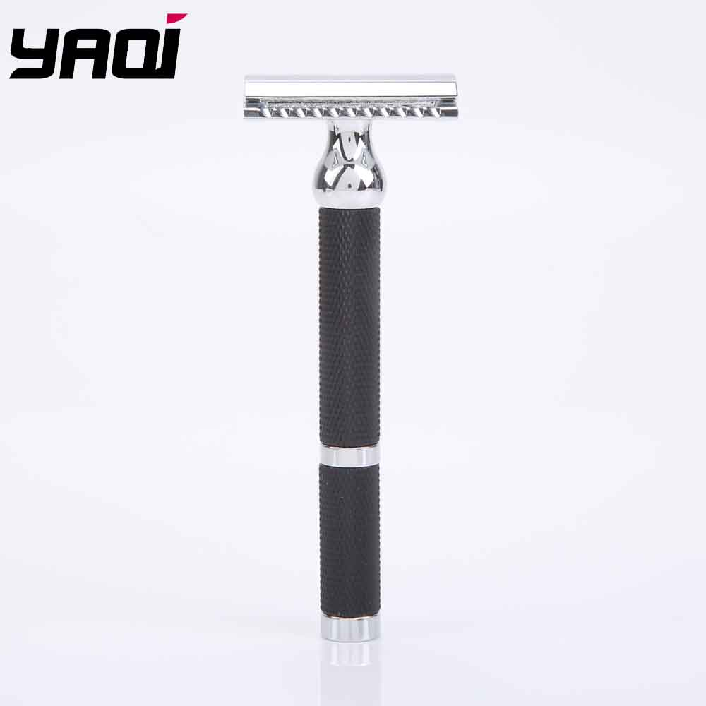 Yaqi Chrome And Black Color Brass Heavy Handle Wet Safety Razor