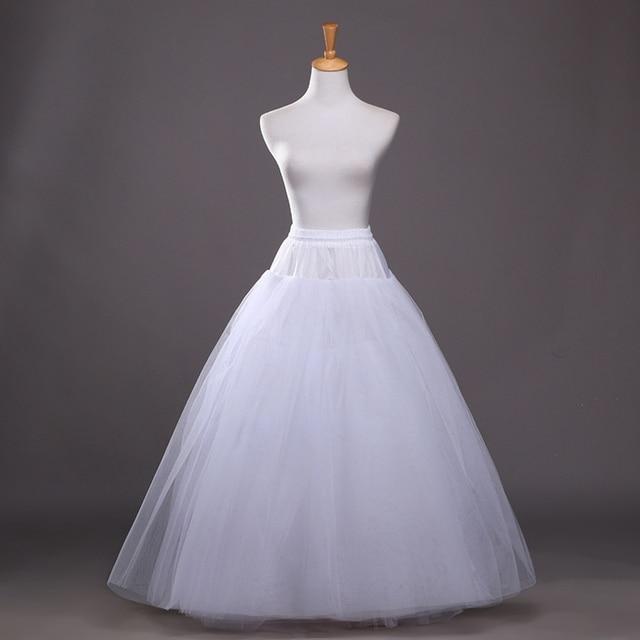 2016 Hot White Petticoat for A Line Dress Wedding Accessories Underskirt Free Size Crinoline In Stock enaguas novia