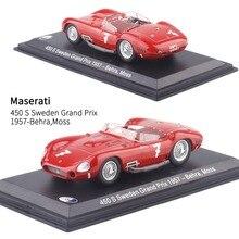 1/43 масштаб Италия 1957 Maserati 450S Швеция Grand Prix#7 гоночный автомобиль литая под давлением металлическая модель игрушки для детей Подарки
