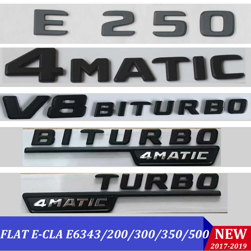 新しいフラットW212 W213 エンブレムステッカーE63 E200 E250 E300 セット自動パラ車手紙トランクリアスターバッジロゴメルセデスベンツamg