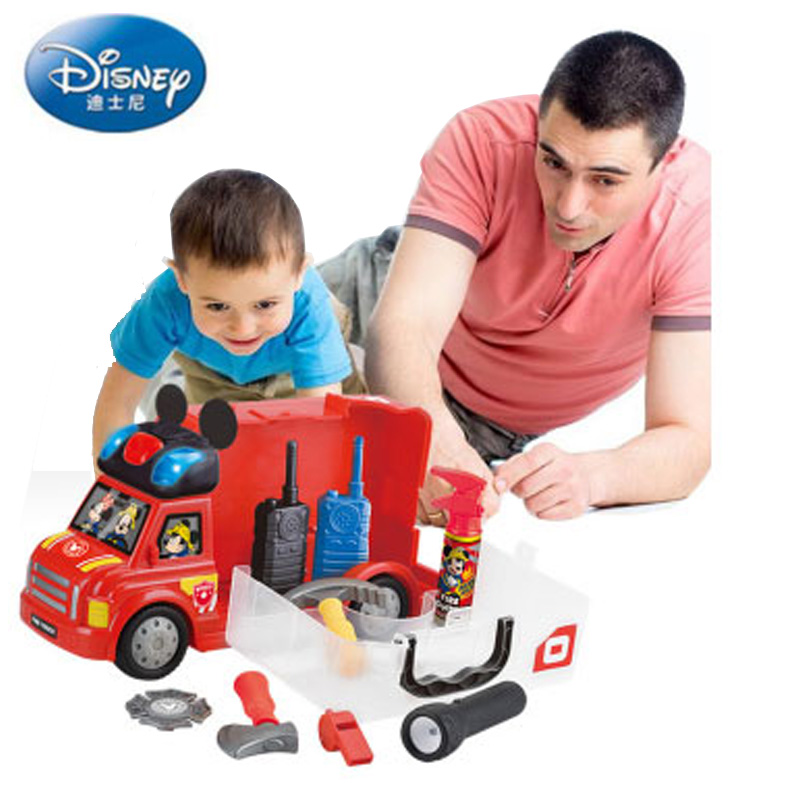 Disney jouets loisirs Diecasts jouet véhicules camion de pompiers police voiture simulation pompier costume police costume jouet pour enfants modèle