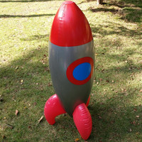 New Inflatable Toys Inflate Red Rocket Model Toys Children Birthday Party Decoration Toys Astronaut Space Spaceship