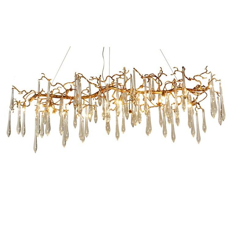 Phube Iluminación grande artístico ramas Candelabros esmalte coloreado lámpara Iluminación Hotel Candelabros araña de cobre