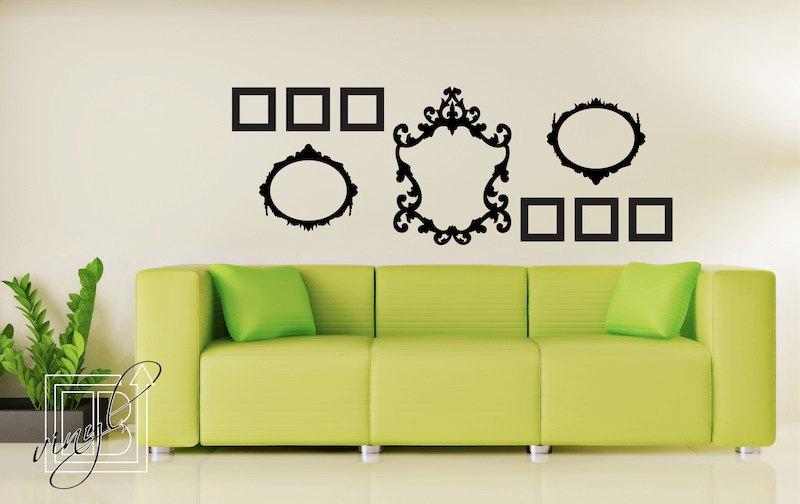 unidsset geomtrico espejo pegatinas de pared decoracin para el hogar sala de estar