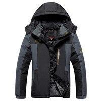 Plus Size 8XL 9XL Winter Fleece Military Down Jacket Coat Men Windproof Waterproof Outwear Down Parkas Windbreaker Army Raincoat