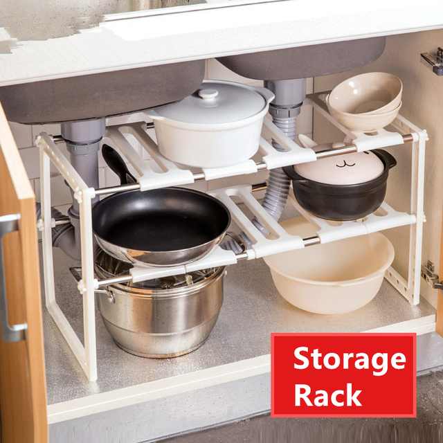 Shelf Kitchen Storage Detachable Two Layer Magazine Rack Bathroom Shower  Sundries Pp Plastic Rack Floor