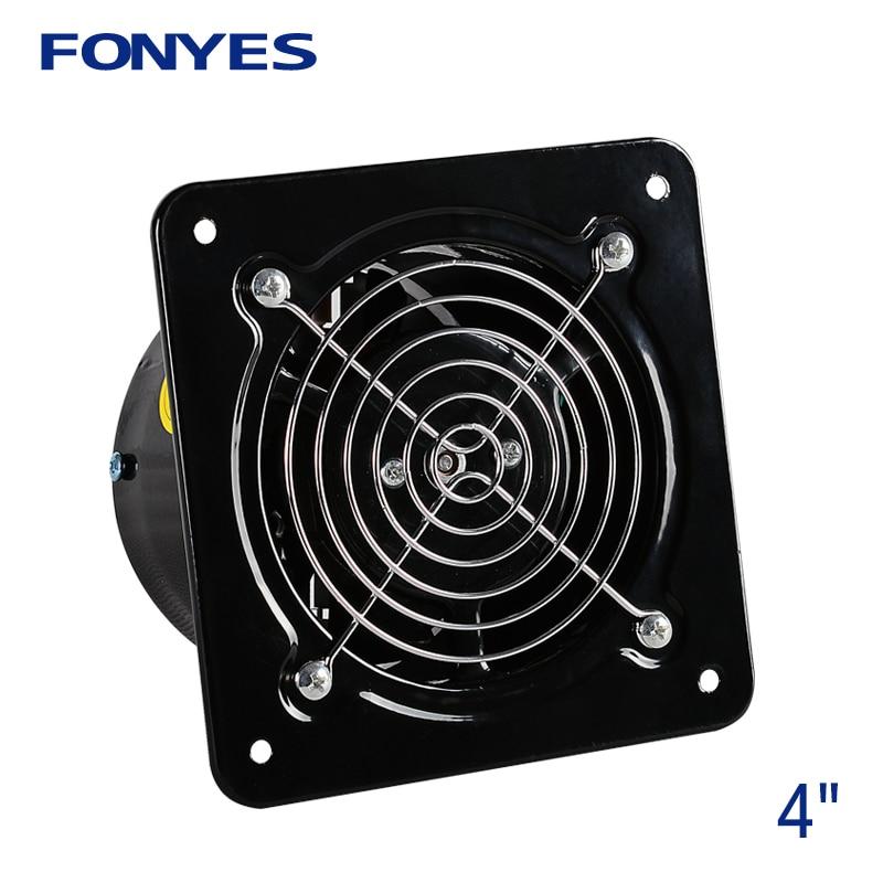 4 inch mini wall fan bathroom exhaust fan booster fan window extractor metal ventilator ventilation fan 100mm 220V