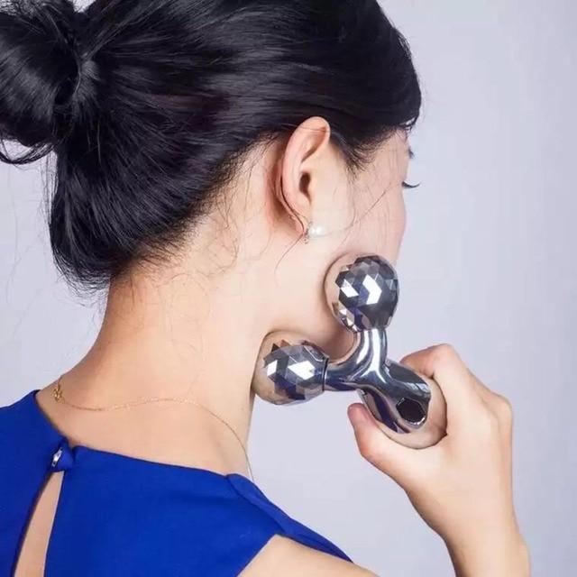 3D Roller Massage V Face Lift Facial Massager Instrument Beauty Tighten Skin Body Shaping Relaxation Thin Face Lift  Tool 3